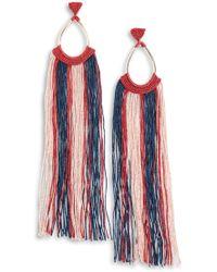 Missoni Earrings - Red