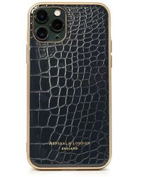 Aspinal of London Iphone 11 Pro Case With Gold Edge - Black