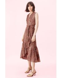 Rebecca Taylor - Spring Leopard Wrap Dress - Lyst