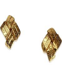 Chanel - Gold Toned Clip On Earrings - Lyst