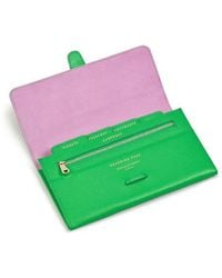 Aspinal of London Classic Travel Wallet - Green
