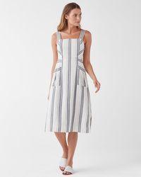 Splendid Dume Stripe Tank Pocket Dress - Blue