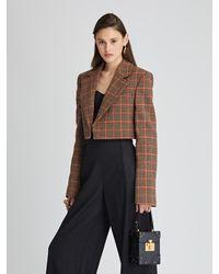 Oscar de la Renta Stretch-wool Flannel Wide-leg Pants - Gray
