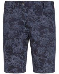 Ted Baker Golf Fierce Printed Shorts - Blue
