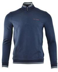 Ted Baker Golf Peanot 1/2 Zip Pullover - Blue