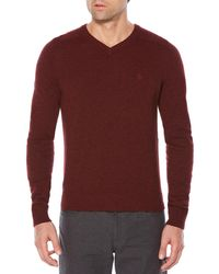 Original Penguin - P55 100% Lambswool V-neck Sweater - Lyst