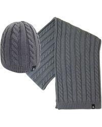 Original Penguin - Cable Knit Beanie & Scarf Set - Lyst