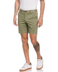 Original Penguin Premium Slim Fit Shorts In Deep Lichen Green
