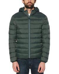 Original Penguin Lightweight Hooded Puffer Jacket In Darkest Spruce - Green