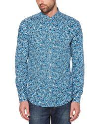 Original Penguin - Classic Fit Drawn Floral Print Shirt - Lyst