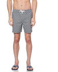 Original Penguin Checkerboard Swim Short - Blue