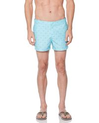 Original Penguin Sun Print Swim Short - Blue