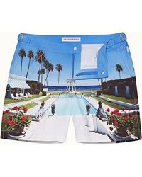 Orlebar Brown Cool By The Pool Mid-length Swim Shorts - Blue
