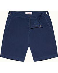 Orlebar Brown Blue Wash Longest-length Cotton Twill Shorts