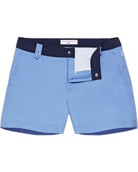 Orlebar Brown 007 Riviera/navy Shorter Length Swim Short - Blue