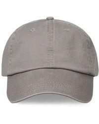 Orlebar Brown - Beesley Baseball Cap In Grey Canvas - Lyst