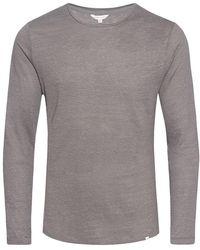 Orlebar Brown - Ob-t Linen Fossil Tailored-fit Linen Crew Neck T-shirt - Lyst