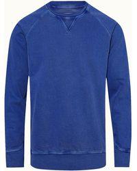 Orlebar Brown Stückgefärbtes Sweatshirt Mit Klassischer Passform In Skydiver Blue
