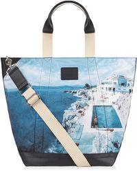 Orlebar Brown Malloy Tote Bag Mit Roc Pool Print - Blue