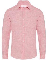 Orlebar Brown - Morton Linen Paradise Tailored-fit Linen Shirt - Lyst