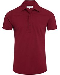 Orlebar Brown Sebastian Mulberry Tailored Polo - Rojo