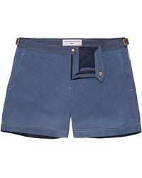 Orlebar Brown Goldfinger Swimshort 007 Mid Blue Shorter Length Swim Short