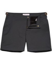 Orlebar Brown - Bulldog X Edlere Klassische Badeshorts Black Honeycomb - Lyst