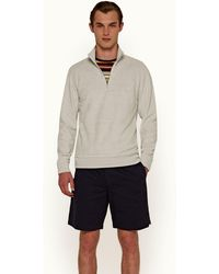 Orlebar Brown Isar Towelling Moonlight Classic Fit Double-faced Towelling Sweatshirt - Gray