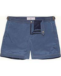 Orlebar Brown 007 Mid Blue Shorter Length Swim Short