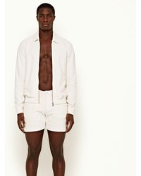Orlebar Brown Beacher Towelling White Sand Classic Fit Towelling Day Shorts - Natural