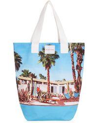 Orlebar Brown Argyle Pool House Print Tote Bag - Blue