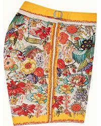 Orlebar Brown Bright Gold Eden Print Mid-length Swim Shorts - Multicolour