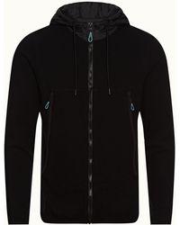Orlebar Brown Black Classic Fit Hooded Sweatshirt