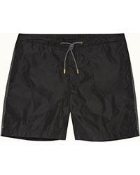 Orlebar Brown Bulldog X Black Mid-length Drawcord Swim Shorts