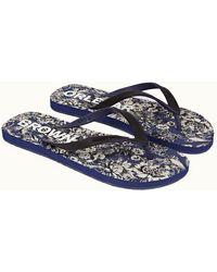 Orlebar Brown Full Bloom/blue Wash Flip Flops