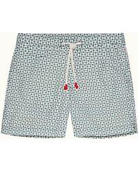 Orlebar Brown Sage Merlin Mid-length Drawcord Swim Shorts - Multicolour