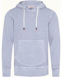 Orlebar Brown Washed Capri Blue Classic Fit Hooded Sweatshirt