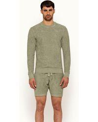 Orlebar Brown Artichoke Classic Fit Towelling Sweatshirt - Green