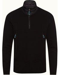 Orlebar Brown Black Classic Fit Funnel Neck Sweatshirt