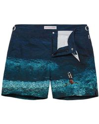Orlebar Brown - Bulldog Deep Sea Mid-length Swim Shorts - Lyst