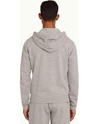Orlebar Brown Mathers Mid Grey Hooded Zip-thru Sweatshirt