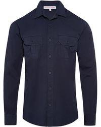 Orlebar Brown Giles Navy Tailored-Fit Shirt - Azul