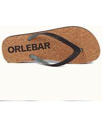 Orlebar Brown Black/sage Flip Flops