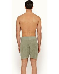 Orlebar Brown Artichoke Green Classic Fit Sweat Shorts