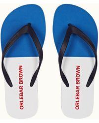 Orlebar Brown Navy/skydiver Flip Flops - Blue