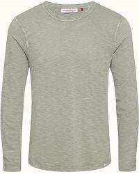 Orlebar Brown Artichoke Classic Fit Garment Dye Long-sleeve T-shirt - Green