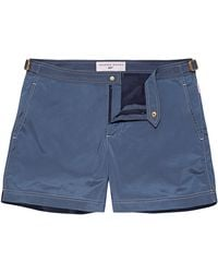 Orlebar Brown 007 Mid Blue Shorter Length Swim Short