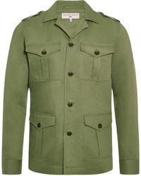 Orlebar Brown Chaqueta militar con botones - Verde