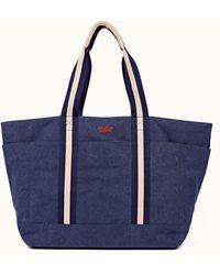 Orlebar Brown Mason Navy Canvas Tote Bag - Blue