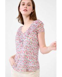 ORSAY Shirt mit Plisseefalten - Natur